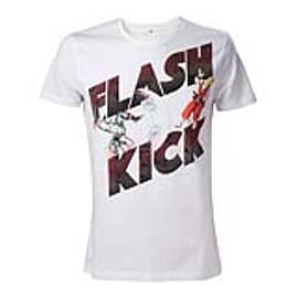 CAPCOM Street Fighter IV Adult Male Guile's Flash Kick T-Shirt, Large, White (TS507856SFG-L) Clothing
