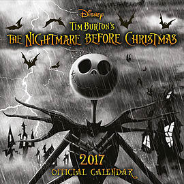Nightmare Before Christmas 2017 Calendar Books