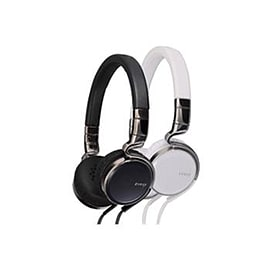 JVC HA-SR75S Esnsy On-Ear Headphones inc Mic Remote x2 Pack - Black & White Multi Format and Universal