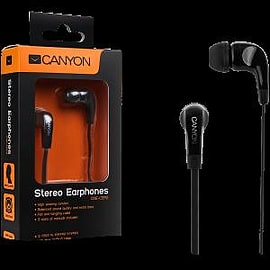 Canyon Essential Stereo Earphones Black Multi Format and Universal