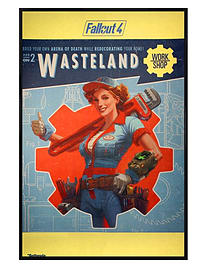 Fallout Gloss Black Framed 4 Wasteland Maxi Poster 61x91.5cm Posters