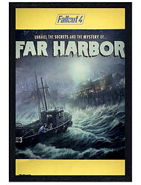 Fallout Black Wooden Framed 4 Far Harbour Maxi Poster 61x91.5cm Posters