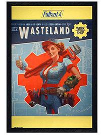 Fallout Black Wooden Framed 4 Wasteland Maxi Poster 61x91.5cm Posters