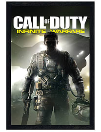 Call of Duty Black Wooden Framed Infinite Warfare Maxi Poster 61x91.5cm Posters