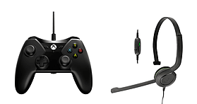 Xbox One Controller & Chat Headset Bundle (Black) screen shot 1