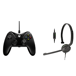 Xbox One Controller & Chat Headset Bundle (Black) XBOX ONE