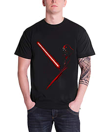 Star Wars T Shirt Vader Shadow Black Official Mens Movie OfficialSize: L Clothing