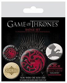 Game Of Thrones targaryen Fire And Blood new Official 5 X button Badge PackSize: One Size Badges