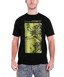 Game of Thrones T Shirt Lannister Giant Gold Emblem Official Mens New BlackSize: S Clothing