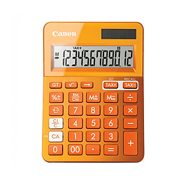 Canon LS-123K Metallic Orange Dual Powered Calculator (9490B004AA) Multi Format and Universal