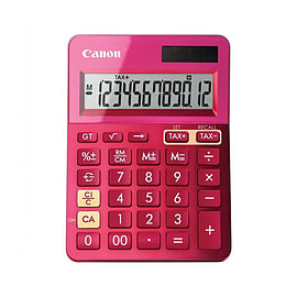 Canon LS-123K Metallic Pink Dual Powered Calculator (9490B003AA) Multi Format and Universal