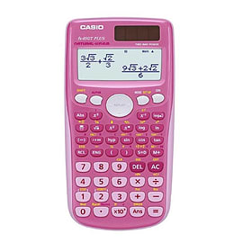 Casio FX-85GT Plus Scientific Solar Calculator With Slide On Hard Case - Pink (FX85GT+PK) Multi Format and Universal
