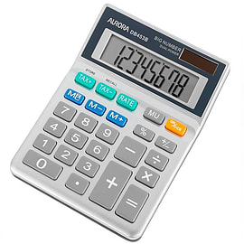 Aurora Desktop / Handheld Calculator With Large 8 Digit Display Solar Power & Tax Button (DB453B) Multi Format and Universal