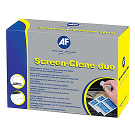 AF Screen Clene Duo Wet/Dry Wipe - Pack of 20 (SCR020) Multi Format and Universal