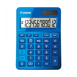 Canon LS-123K Metallic Blue Dual Powered Calculator (9490B001AA) Multi Format and Universal