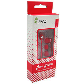 Jivo Technology JELLIES INEAR HEADPHONES STRAWBERRY FR Multi Format and Universal