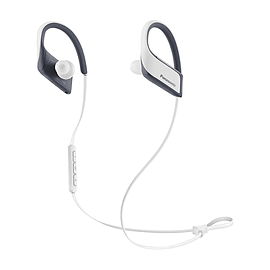 Panasonic Bluetooth Sports, Mic, white +control, 9mm, IPX4, 22g, Pouch, 6H battery. In-ear, wireles Multi Format and Universal