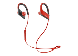 Panasonic Bluetooth Sports, Mic, red +control, 9mm, IPX4, 22g, Pouch, 6H battery. In-ear, wireless. Multi Format and Universal