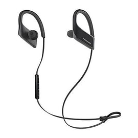Panasonic Bluetooth Sports, Mic, black +control, 9mm, IPX4, 22g, Pouch, 6H battery. In-ear, wireles Multi Format and Universal
