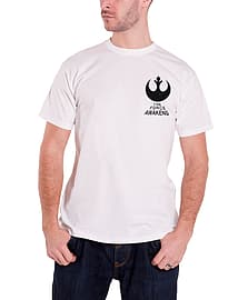 Star Wars T Shirt Force Awakens X Wing Fighter Official Mens New WhiteSize: L Clothing