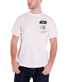 Star Wars T Shirt Force Awakens Millennium Falcon Official Mens New WhiteSize: XXL Clothing