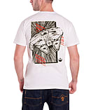 Star Wars T Shirt Force Awakens Millennium Falcon Official Mens New WhiteSize: XXL screen shot 1