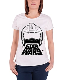 Star Wars T Shirt Force Awakens X-wing Fighter Official Womens New Skinny FitSize: 14 Clothing