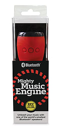 Mighty Music Engine Bluetooth Speaker - Black/Red Multi Format and Universal