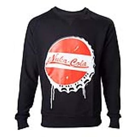 FALLOUT 4 Men's Nuka Cola Bottle Cap Sweater, Extra Large, Black (SW340008FOT-XL) Clothing