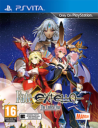 Fate Extella: The Umbral Star PS Vita Cover Art