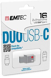 T400 DUO USB 3.0 & USB Type C 16GB Flash Drive 16GB PC