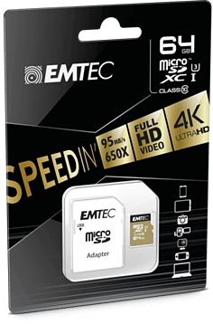 Speed In Mirco SD Card with SD Card Adpator 64GB