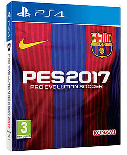 Pro Evolution Soccer 2017 - FC Barcelona Edition (includes Steelbook) PS4 Cover Art