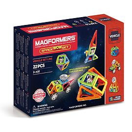 Magformers Space Wow Set 22-Piece Blocks and Bricks