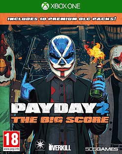 Payday 2: The Big Score XBOX ONE Cover Art