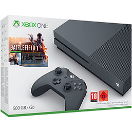 Xbox One S Battlefield 1 Special Edition Bundle (Storm Grey 500GB)