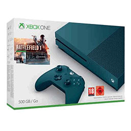 Xbox One S Battlefield 1 Special Edition Bundle (Deep Blue 500GB)