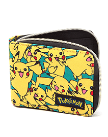 Pokemon Wallet All Over Pikachu new Official Zip yellow Clothing