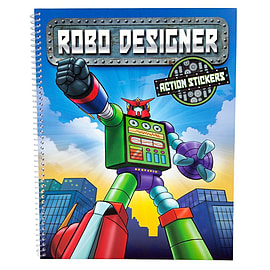 Robo Designer Colouring Book & Action Stickers Books