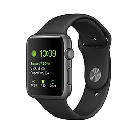 Apple Watch Series 1 42mm Space Grey Aluminium Case with Black Sport Band (As new condition) Mobile phones