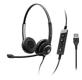 Sennheiser Circle SC 260 USB CTRL II - Headset - on-ear - black with silver Multi Format and Universal