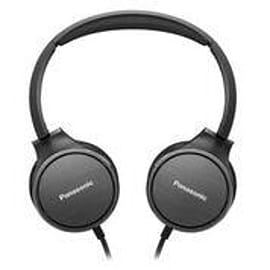 Panasonic HF500 On-Ear Headphone, Black Microphone, 25 Ohm, 9-26kHz, 30mm driver, 1,2m cab Multi Format and Universal