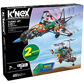 K'Nex Building Set Turbo Jet 2-in-1 Blocks and Bricks