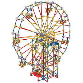 K'Nex Roller Coaster Building Set Classic Amusement Park Blocks and Bricks