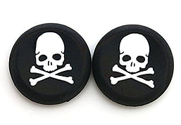 2 WHITE Skull Bones Silicone Thumb Stick Grips for XBOX ONE / 360, PS3 and PS4 XBOX ONE