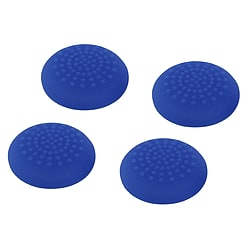 ZedLabz convex soft silicone thumb grips for Sony PS4 controller analog sticks - 4 pack blue PS4