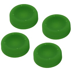 ZedLabz concave soft silicone thumb grips for Sony PS4 controller analog sticks - 4 pack green PS4