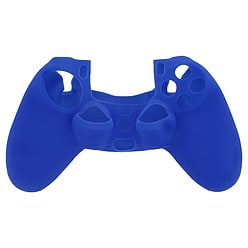 Soft silicone gel skin grip protective cover for Sony PS4 controller rubber case blue PS4