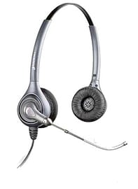 Plantronics SupraPlus HW361/A Stereo Headset (Voice Tube) Leatherette Ear Cushions Multi Format and Universal