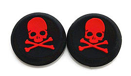 RED Skull and Bones Silicone Thumb Grips for XBOX ONE / 360, PS3 and PS4 screen shot 1